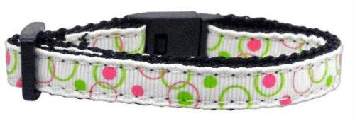 Retro Nylon Ribbon Collar White Cat Safety (24 Pack) [Misc.]