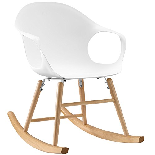 Modway Swerve Rocking Chair, White