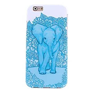ZXSPACE Hi-Q Blue Elephant Water Decals Pattern TPU Soft Case for iPhone6