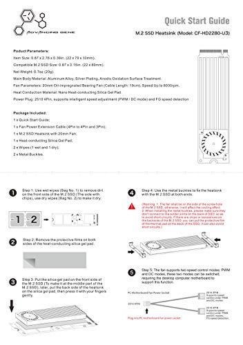Advancing Gene NVMe M.2 SSD Cooler Heatsinks with 20mm Fan, 2nd Generation by Advancing Gene (Image #5)