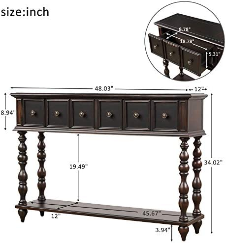 Romatpretty Antique Buffet Table Kitchen Storage Buffet, Sideboard Console Tables