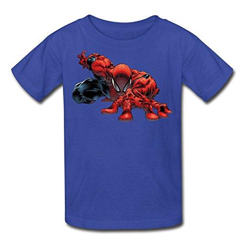Kid's 100% Cotton Spiderman Funny T-Shirt RoyalBlue US Size XL