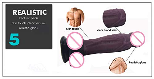 Orgasmo consolador sexo juguete para mujeres-Uomo las mujeres-Uomo para muscoloso 7,28 pulgadas realista G-Spot orgasmo realista silicona gruesa consolador anal tapón con ventosa,Marrón c85e3b