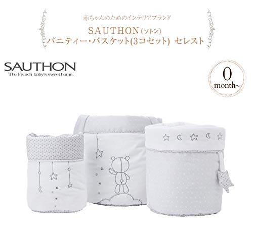 Sauthon Lot de 3 pani/ères gigogne C/éleste
