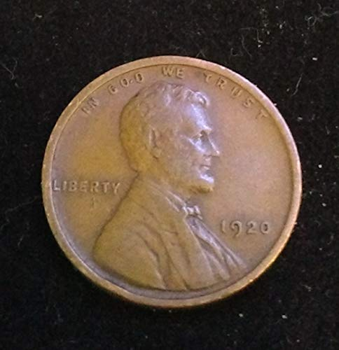 1920 - U.S. Lincoln Wheat Cent VG to FINE+ American Mint -