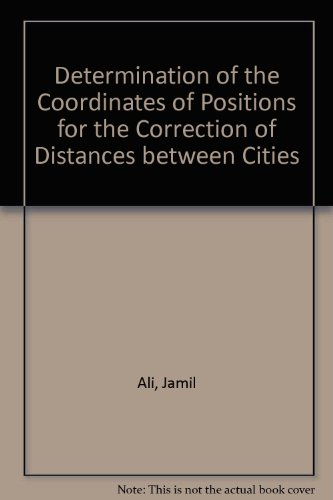 Determination Of The Coordinates Of Positions For The Correction Of Distances Between Cities