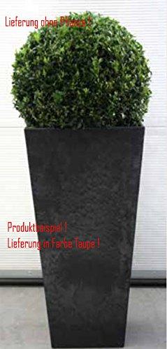 Blumenübertopf Artstone Ella Vase aus Kunststoff, sonnen-und regenbeständig für Innen und Außen, Farbe Taupe 35x35x70cm