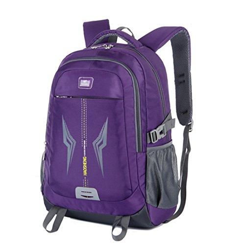 sport de Sac imperméable Dunland basiques sac étudiants Backpack aux résistant à Toile Violet livre gym dos XwXp6xv