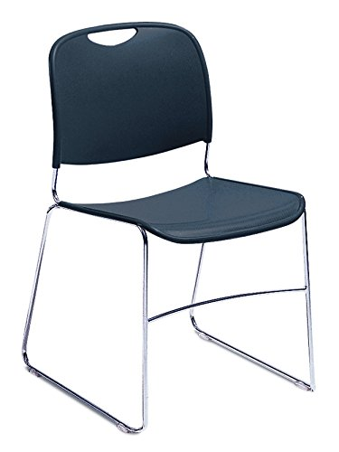 Classroom Sled - NPS 8505-CN Ultra-compact Plastic Stack Chair, 300-lb Weight Capacity, 17-1/2