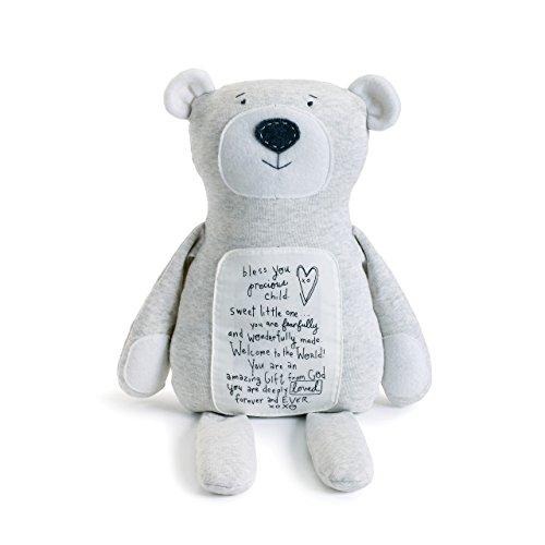 DEMDACO Bless You Precious Child Poetic Threads Bear Children's Plush Stuffed Animal Toy
