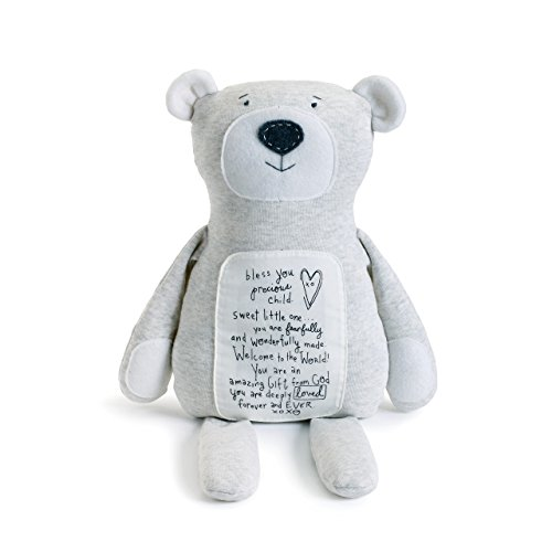 DEMDACO Bless You Precious Child Poetic Threads Bear Children's Plush Stuffed Animal Toy
