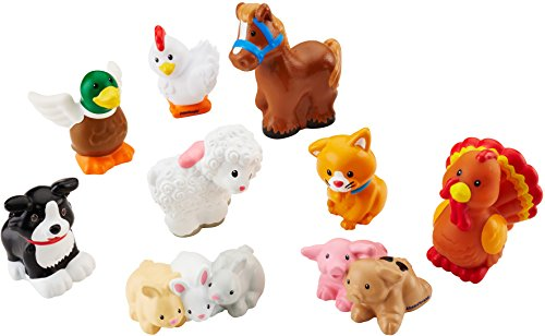 Fisher-Price Little People Farm Animal Friends with Baby Bunnies & -