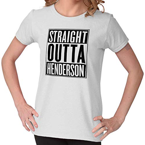 (Straight Outta Henderson, NV City Movie Gift Ladies T Shirt)