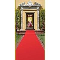 Corredor de alfombras de Beistle, 24 in por 15 pies, Rojo