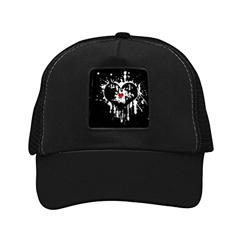 Broken Heart Hip Hop Creative Baseball Cap Shade Fashion Unisex Grid Cap for Women Men