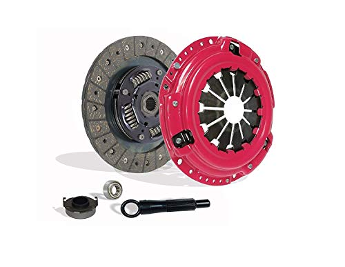Clutch Kit works with Honda Civic Delsol Acura El Base Dx Ex Lx Hx Reverb 1992-2005 1.5L 1.6L 1.7L L4 Gas Sohc Naturally Aspirated (Stage 1; D15B7, D15B8, D15Z1, D16Y7, D16Y8, D16Z6) (Honda Civic Base)