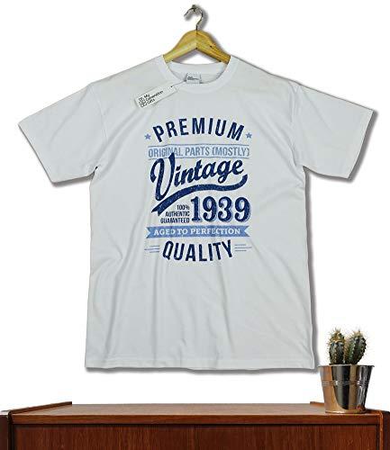 Anniversaire Bleu Year 1939 Vintage Aged 80 Blanc Homme Ans To shirt Perfection T Cadeaux g0UAqUSw