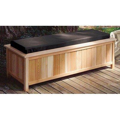 Cedar Creek 2054 Cedar Large Storage Bench With Cushion Top Color: Black