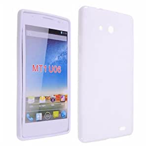Okeler White X Shape Rubber TPU Gel Soft Case Cover for Huawei Ascend Mate 6.1 MT1 U06 with Free Pen