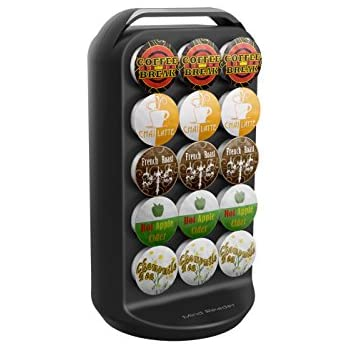 Mind Reader K-Cup Carousel, Holds 35 K-Cups, Coffee Pod Holder, Black