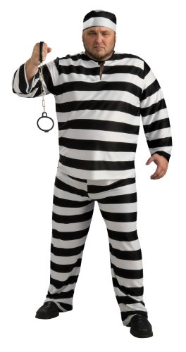 Rubie's Costume Convict Man Costume, Black And White, Adult Full (Black And White Halloween Costumes For Men)