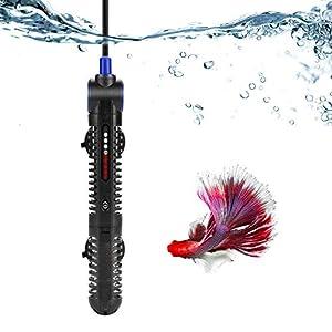 BKTC 50W Aquarium Heater Submersible Fish Tank Heater 50 Watt Adjustable for 2 to 10 Gallon Tank 27