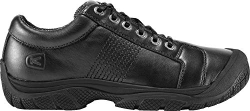 (KEEN Utility - Men's PTC Oxford (Soft Toe) Work Shoes, Black, 11.5)