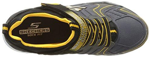 Skechers Gunray Luft Protium Jungen Trainer Black/Charcoal/Yellow