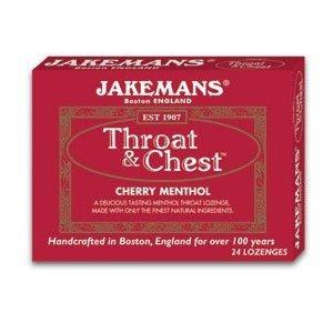 Jakemans Throat & Chest Lozenges Cherry Menthol 24 Each