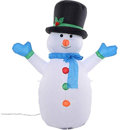 CDL 4ft Airblown Christmas Inflatable Snowman Animated Outdoor Xmas Yard Decorations 103