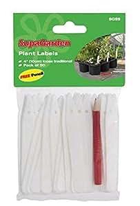 "Plant Labels Flower Labels Garden SupaGarden Plant Labels (Pack of 100) 5"""