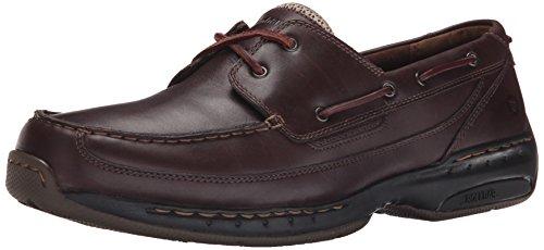 (Dunham Men's Shoreline Boat Shoe, Dark Brown, 10.5 6E US)