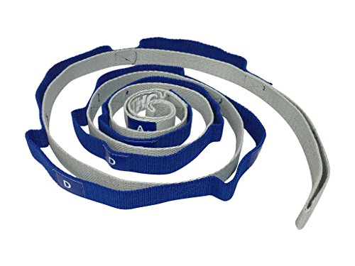 Yoga & Pilates Stretch Out Strap with Multiple Handling Loop Optimal Stretching Support Belt For Exercise, Physical Therapy Improve Muscles & Fitness Stretch Band by The Health Gurus