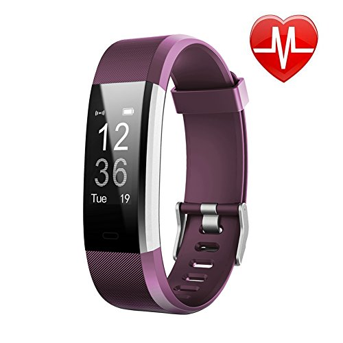 Fitness Tracker HR - Letscom Activity Tracker with Heart Rate Monitor Watch - IP67 Waterproof Smart Wristband with Calorie Counter Watch Pedometer Sleep Monitor for Kids Women Men