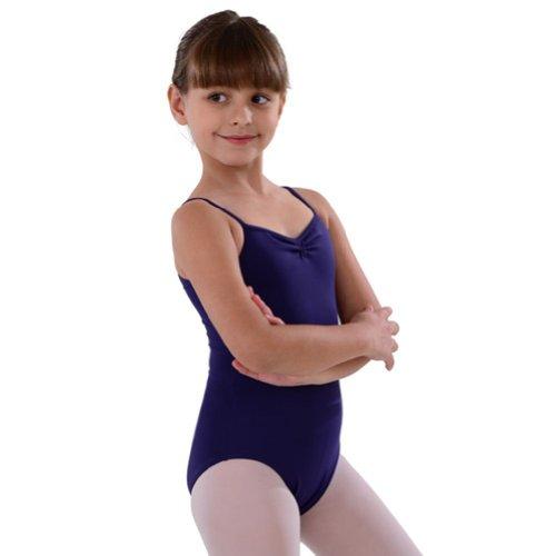 So Danca Eggplant Pinched Neckline Dance Leotard Little Girls 4-6X - Pinched Neckline Dance Leotard