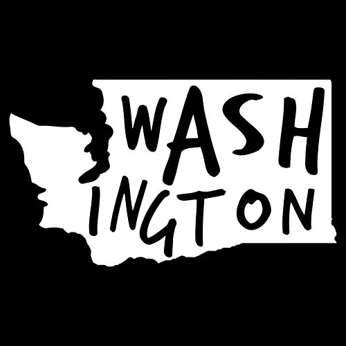 Washington State Vinyl Decal Sticker | Cars Trucks Vans Walls Windows Laptops Cups | White | 5.5 X 3.1 | KCD1958