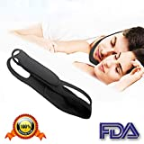 Anti Snoring Chin Strap - Best Stop Snoring Device - Adjustable Snore Reduction Straps - Sleep Aids Solution for Men Women Kids (Black-Straight)