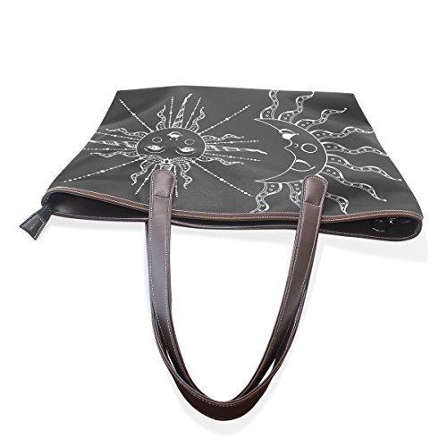 Vintage And Handbags For Boho Girls PU Bag Sun Women Moon Shoulder TIZORAX Elegant Tote Leather gRn1UWTn