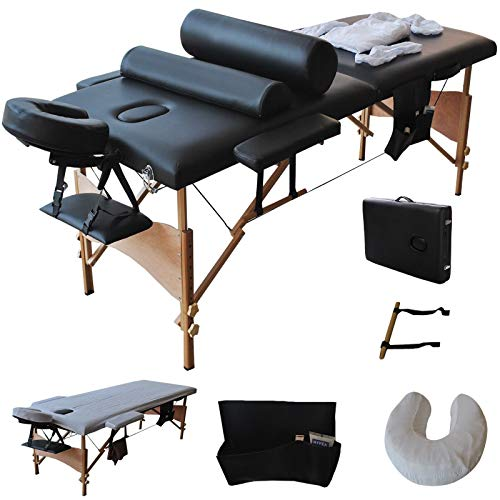 - Giantex Massage Table Bed Facial Spa Portable Folding Professional Tattoo Salon Spa Bed Paddding with Free Sheet Cradle Cover 2 Pillows Hanger PU Face Spa Beds t w/Carry Case, 84