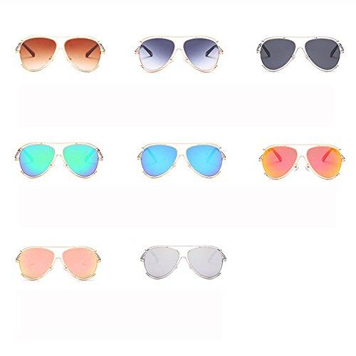 Color E Gafas Film Sol Espejo GUOHONGCX Gaze Cycling De Metal Mirror Ocean Rana Y Colorful Mujer Sol Moda De E Large Gafas Frame Hombre De Frame Unisex Casual 6pxqZdx