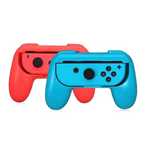 BULLSPRING Hand Grips para Nintendo Switch Joy-Con, resistente al desgaste Comfort Game Controller Handle Kit Protector de la...