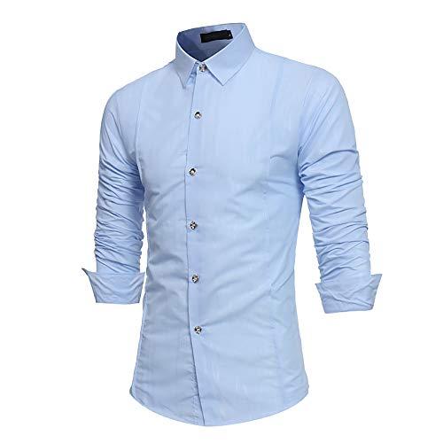 BaZhaHei, Ropa de Hombre, Manga Larga para Hombres de Manga Larga con Estampado Formal y Estampado Formal otoñal Camisetas de Hombre Blusa para Hombre Polo ...