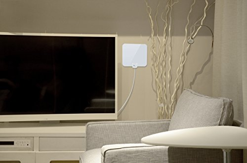 1byone-OUS00-0565-Shiny-Antenna-Super-Thin-HDTV-Antenna-with-165ft-High-Performance-Coaxial-Cable
