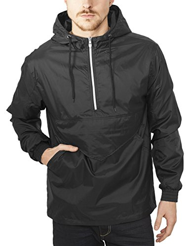 Classics black Urban Giacca Nero Uomo Windbreaker Pull Over pnUZwxFS