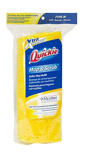 (Quickie Roller Mop Refill with Antimicrobial Microban)