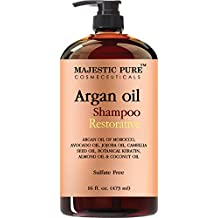 Argan Oil Shampoo from Majestic Pure Offers Vitamin Enriched Gentle Hair Restoration Formula for Daily Use, Sulfate Free, Moroccan Oil & Potent Natural Ingredients, for Men and Women 16 fl. oz