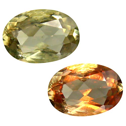 Deluxe Gems 2.08 ct Oval Cut (10 x 7 mm) Unheated/Untreated Turkish Color Change Diaspore Natural Loose Gemstone