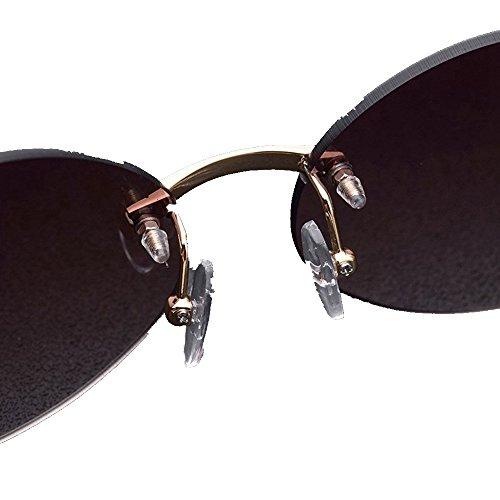 ovales cadre lunettes Shop Noir de de de Cadre jambes de 6 soleil Lunettes soleil soleil à Gris naturelles blanches Lunettes sans lunettes soleil TxqawTSP