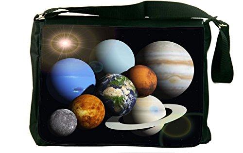 Rikki Knight Solar System Planets Design Messenger Bag - ...