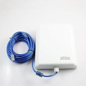 ADAPTADOR WIFI USB PROFESIONAL PARA EXTERIORES SIGNAL KING SK-10TN+ 5800mW + ANTENA PANEL 58dBi CON 10m DE CABLE ACTIVO USB.